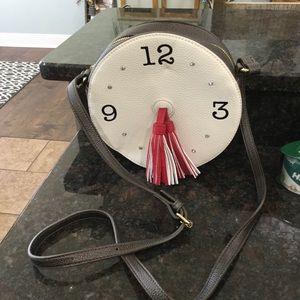 Bags - Round clock tasseled purse